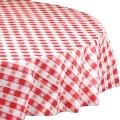 Where to rent TABLE COVER, ROUND RED GINGHAM in Langley WA