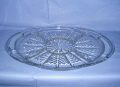 Where to rent Platter, 16 x11  Divided, Clear, Deco in Langley WA