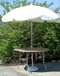 Where to rent Umbrella w Table kit 48  -White in Langley WA