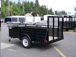 Where to find Trailer, 5x8 Utility w sidewalls in Langley