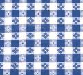 Where to rent TABLE COVER, ROUND BLUE GINGHAM in Langley WA